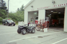 Fire Department Displays Old Equipment