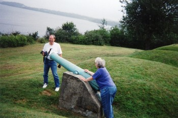 Cannon at Fort O'Brien Historical Park