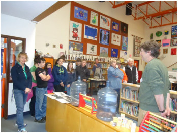 Fort O'Brien Students learn about the Historic Exhibit